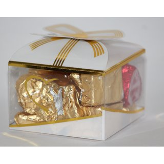 Assorted Handmade Chocolate in White  Golden Gift Pack (Small)