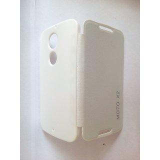 kanish  Flipcover For Motorola Moto X2 White