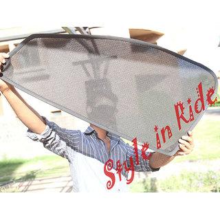 Foldable Zipper Magnetic Style In Ride Car Sunshades/ Sun Shade Car Curtains For Maruti Zen Estilo - Set Of 4