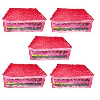 Abhinidi Pack of 5 pcss Multipurpose Satin Saree cover sari cover blouse cover salwar cover bedsheet cover pillow cover Dress protection cover for keeping saree salwar suit shirt trouser bedsheet pillow