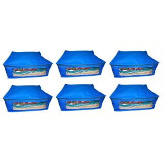 Abhinidi Non-Woven Multipurpose large 5inc Saree Cover 6PC Capacity 5-6 Units Saree Each