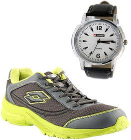 Lotto Men S Gray Green Sports Shoes