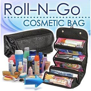 Gadgetbucket 4 in 1 Travel Buddy Roll N Go Cosmetic Bag Organizer For Girls Ladies Women