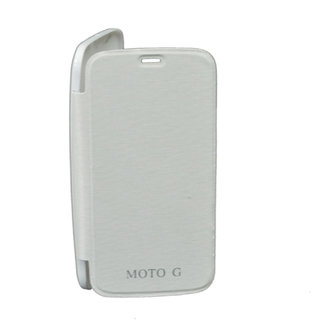kanish  Battery Back Flip Cover For Motorola Moto G -WHITE
