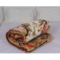 Satvihma brown Polyester Winter Special double Mink Blanket
