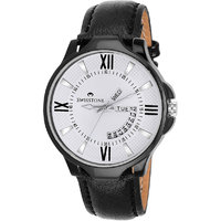 Swisstone BLK105-WHT-BLK Day And Date White Dial Black