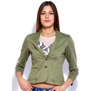 Tarama Olive Color Jacket For Women