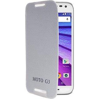 kanish Flip Cover Moto G3 (3rd Gen) - white
