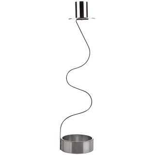 Plush Plaza Silver Stainless Steel Luminoso Candle Holder