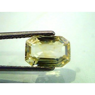 MARKA GEMS 6.5 Ct Yellow saphire Natural(Pukhraj )