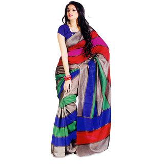FU Printed Bhagalpuri Printed  Silk Handloom Sari