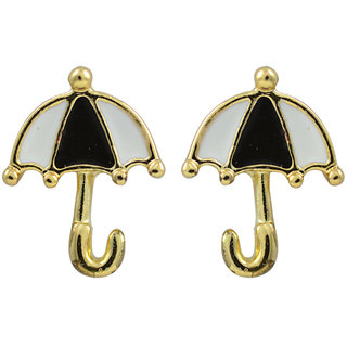 Glitters Black and White Enamel Imported Fashion Umbrella Toy Earring for Kids