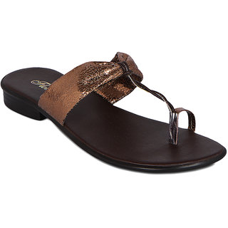 Flora Copper Synthetic Sandal