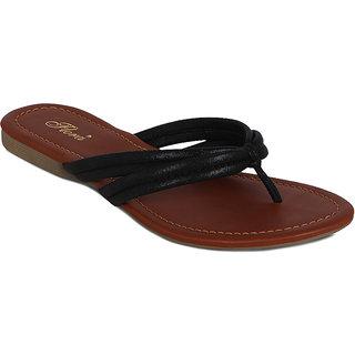 Flora Black Double Strap Sandal