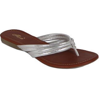 Flora Silver Double Strap Sandal