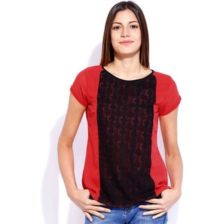 Tarama Red Color Top For Women