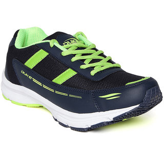 Duke Mens Blue,Green Lace-up Running Shoe