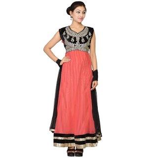 VLS Light Pink Net Anarkali Salwar Suit