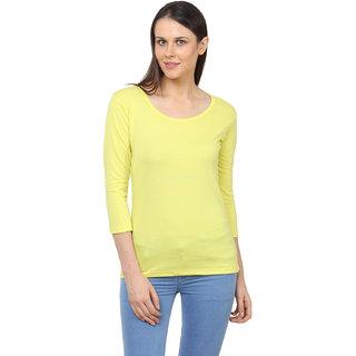 SayItLoud Womens Solid 3/4 Sleeve T Shirt