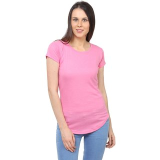 SayItLoud Womens Solid Half Sleeve T shirt