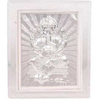 Silverwala 999 Pure Silver Ganesha Photo Frame (9.57.5)