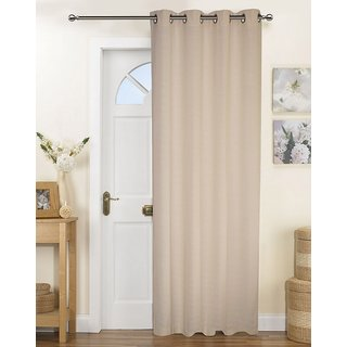 Lushomes Fabiana Cream Curtains with Coordinating Tie Back For Long Door (Single pc)