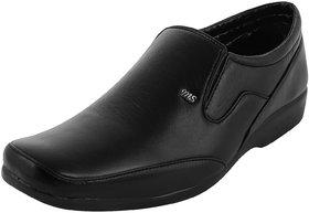 Austrich Black Men Formal Slip-on Shoes