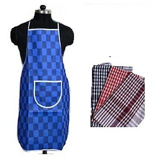 Kitchen Combo of Apron and 1  Cotton Kitchen Napkins