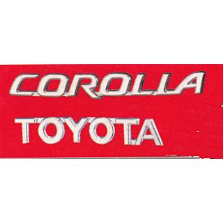 LOGO TOYOTA COROLLA car MONOGRAM EMBLEM CHROME as shown in picture