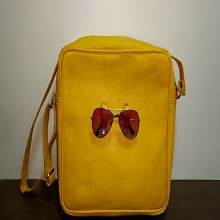 mustard sling bag