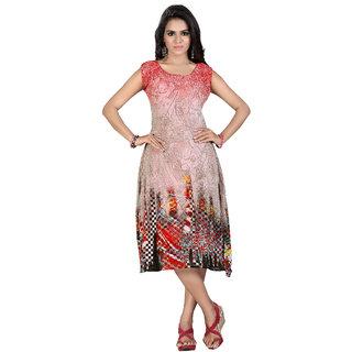 High Street Fashion Style Womens Digital printed dress
