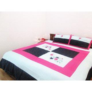 Gunjan Creations Silk Bed Cover   98 X 100 Inch,Multi Color