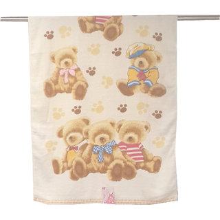 Welhouse Cartoon Bear print Baby Theme Special Bath Towel
