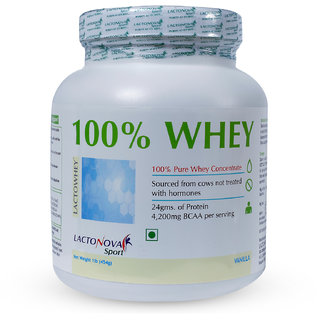 Lactonovasport -100 Whey Protein Vanilla Flavor -1 lb