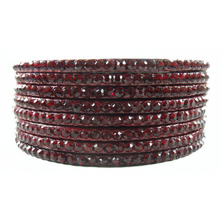 Sukriti Maroon Lac Bangle Set (Pack of 8)