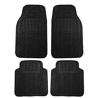 Autoaxes Foot Car Mat Universal For Car Universal For Car (Black)
