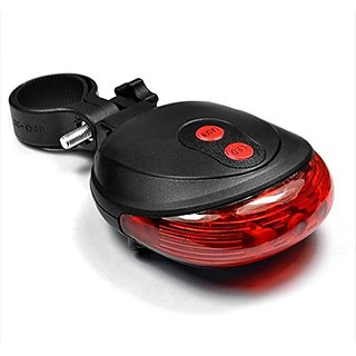 FurMito Bicycle Tail light 5 LED + 2 Laser guide for safety Red colour