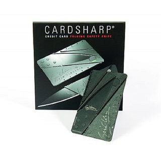 Ultra Thin CardSharp Credit Card Sized Folding Knife Tool Cutter + FREE MEMORY CARD READER