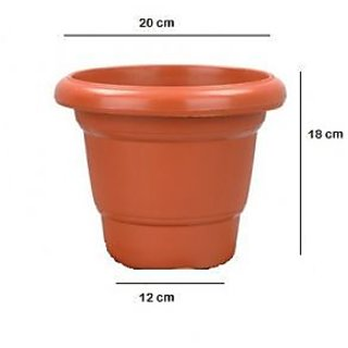 Garden plastic Planter  (Pack of 4 Nos)- 8Inch