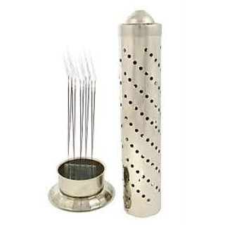 Stainless Steel Agarbatti Stand Holder Silver
