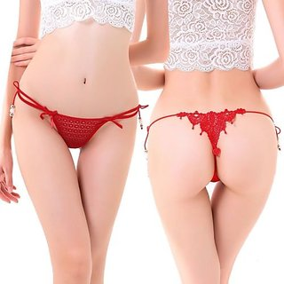 7a15769f0682c9 Ladies-Hot-Sexy-Lace-Knickers-Panties-Lingerie-Briefs-Thongs G-Strings RED  HOT