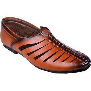 Messi Brown Ethnic SHoes