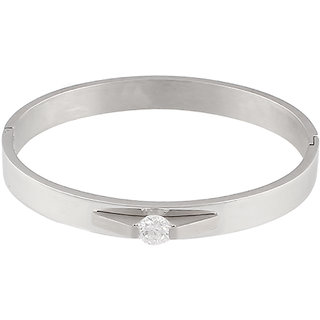 Sarvada Arts Silver Plated Bracelet With American Diamond