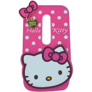 Cantra Hello Kitty Back Cover For Motorola Moto G (3rd gen) - Pink