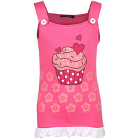 Cool Quotient Girls Fuchsia Cupcake T-shirt