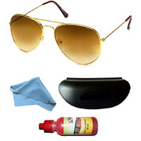 JBG Home Store Combo Of Stylish And Durable Aviator Sunglasses And Sunglass Cleaner