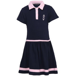 Cool Quotient Girls Navy Polo Dress