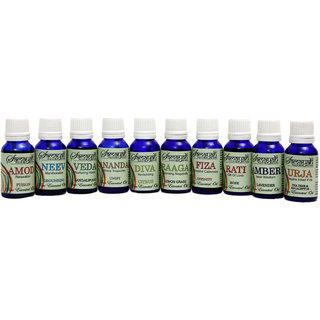 Samayah Handmade Aroma Oils (Set of 10) All Fragrances