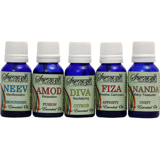 Samayah Handmade Aroma Oils (Set of 5) Five Fragrances