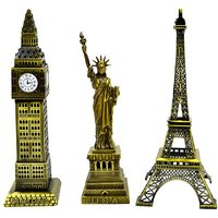 Jaycoknit Les Extravagant Royal Big Ben,Statue Of Liberty,Eiffel Tower Metal Collectible Showpiece,18 Cm